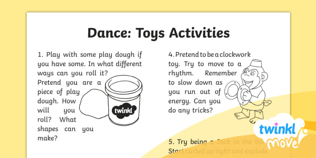 FREE! - Twinkl Move - Year 2 Dance: Toys Home Learning Tasks
