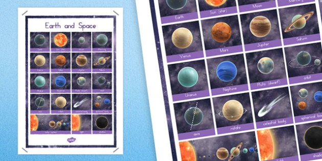 Year 5 Earth and Space Word Grid - australia, earth, space, grid