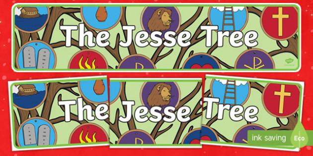 The Jesse Tree Display Banner-Irish