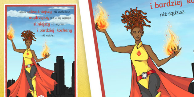 Plakat motywacyjny Jesteś odważniejszy niż myślisz po polsku