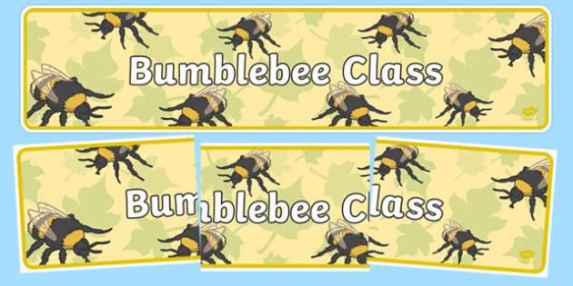 Bumblebee Themed Classroom Display Banner