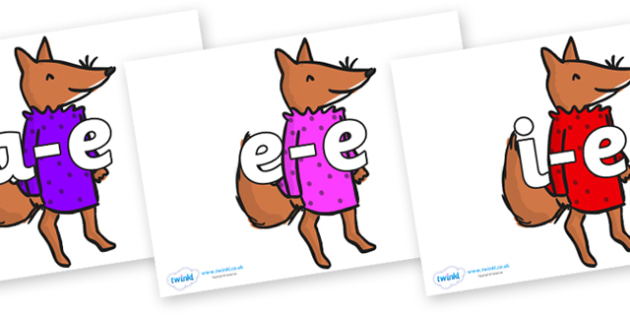 Modifying E Letters on Small Fox 3 to Support Teaching on Fantastic Mr Fox - Modifying E, letters, modify, Phase 5, Phase five, alternative spellings for phonemes, DfES letters and Sounds