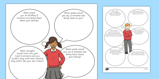 How Does it Feel to be Bullied? Activity Sheet, worksheet