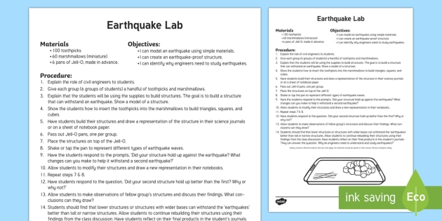 Earthquakes Lab