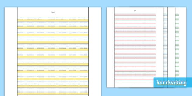 twinkl handwriting highlighted line guide hightlighting worksheet. Black Bedroom Furniture Sets. Home Design Ideas