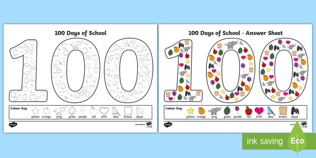 100th day school coloring pages – jboyle.me | 315x630