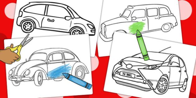 Car Colouring Sheets - car, colouring sheets, colour, colour