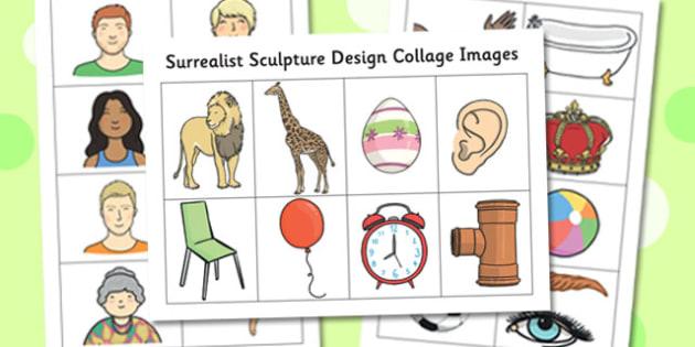 Surrealist Sculpture Design Collage Images - surrealist, sculpture