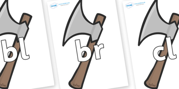 Initial Letter Blends on Axes - Initial Letters, initial letter, letter blend, letter blends, consonant, consonants, digraph, trigraph, literacy, alphabet, letters, foundation stage literacy