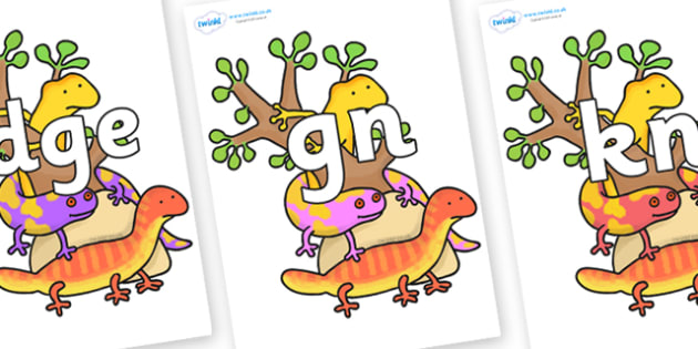 Silent Letters on Reptiles to Support Teaching on The Great Pet Sale - Silent Letters, silent letter, letter blend, consonant, consonants, digraph, trigraph, A-Z letters, literacy, alphabet, letters, alternative sounds
