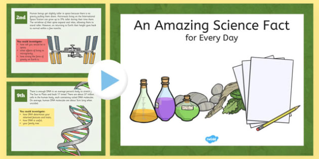 Science: An Amazing Fact a Day - amazing fact, a day, amazing, fact, science