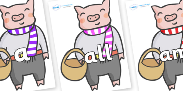 Foundation Stage 2 Keywords on Little Piggy - FS2, CLL, keywords, Communication language and literacy,  Display, Key words, high frequency words, foundation stage literacy, DfES Letters and Sounds, Letters and Sounds, spelling