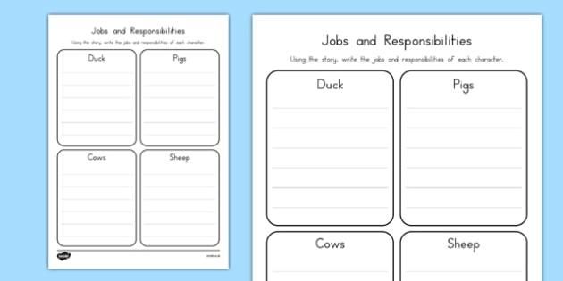 President Duck Jobs and Responsibilities - duck for president, president duck, doreen cronin, jobs and responsibilities