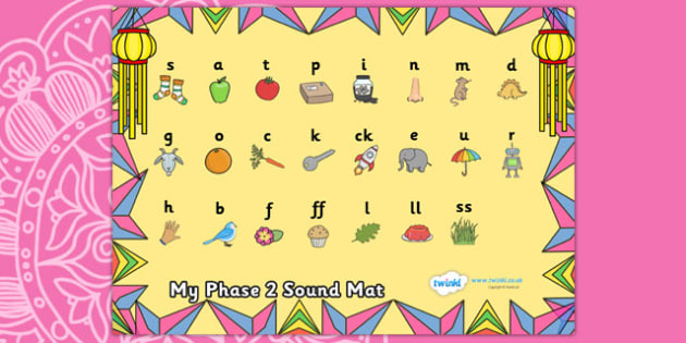 Diwali Themed Phase 2 Sound Mat - diwali, phase 2, phase two, sound mat, phase 2 sound mat, diwali sound mat, themed sound mat, phonics, letters and sounds