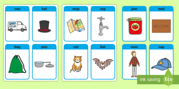 Free Cvc Word Cards A Cvc A Phoneme Eyfs Matching