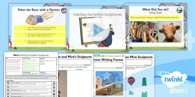 Art: Miro: Painting Surrealist Sculptures KS1 Lesson Pack 6
