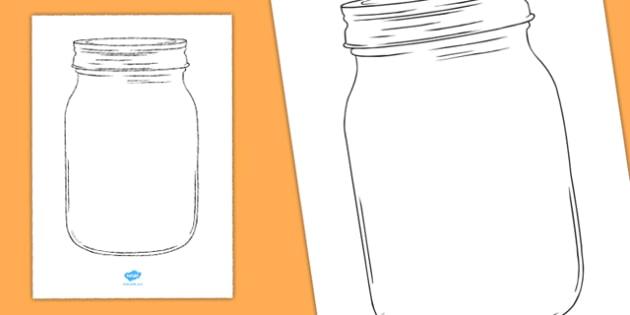 Empty Jar Cut Out A4 - empty jar, cut out, a4, cutout, empty, jar