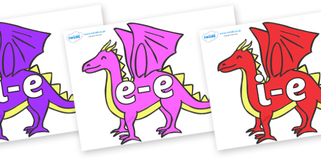 Modifying E Letters on Dragons - Modifying E, letters, modify, Phase 5, Phase five, alternative spellings for phonemes, DfES letters and Sounds
