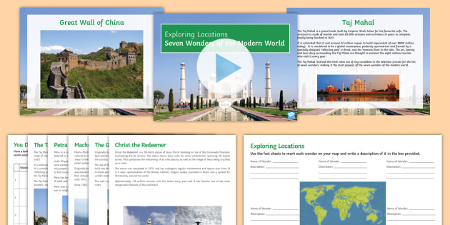 Seven Wonders of the World Differentiated Activity Pack
