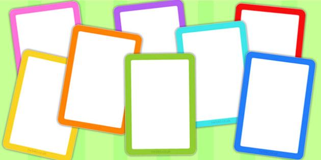 Editable Multicolour Card Templates - cards, card template