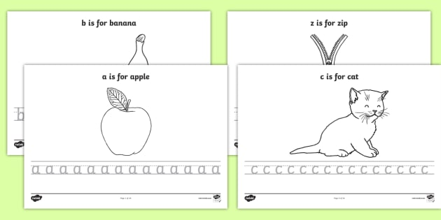 Alphabet Tracing Worksheets Letters In Lowercase