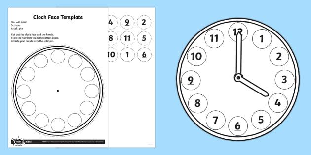 Make a Clock Face Activity - Measurement, measure, measuring, time, o'clock, oclock, clock face, parts of a clock