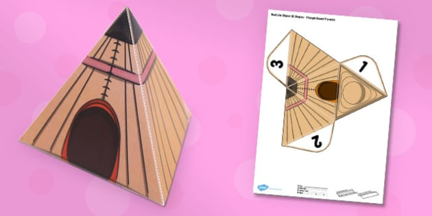 Real Life Object 3D Shapes Triangle Based Pyramid Paper Model - pack, 3d
