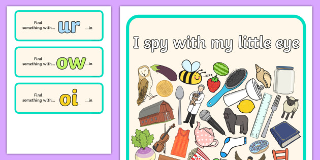 I Spy Phase 3 Graphemes 4 - I Spy, phase 3 graphemes, activity, phase 3, graphemes