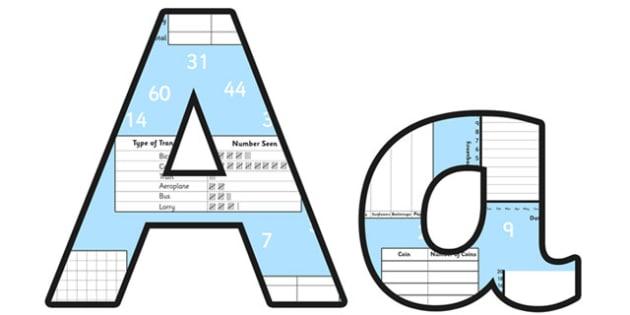 Data Analysis Small Lowercase Display Lettering - data analysis, data analysis display lettering, data analysis display letters, data analysis alphabet