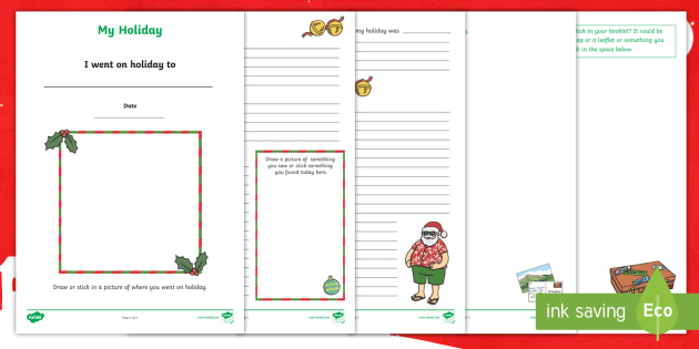 My Christmas Holiday Booklet - christmas, holiday, booklet, christmas holiday