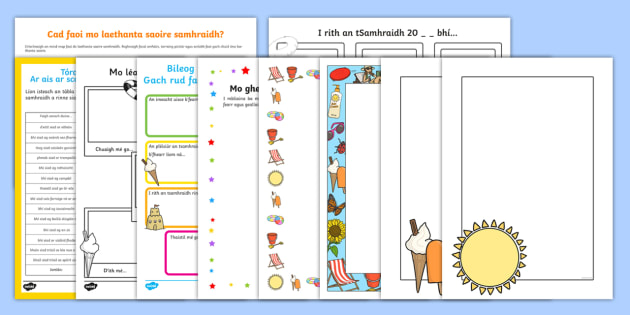 Back to School Class 3 & 4 Activity Pack Gaeilge  - ar ais, ar scoil, school, activity pack, resource pack, ,Irish
