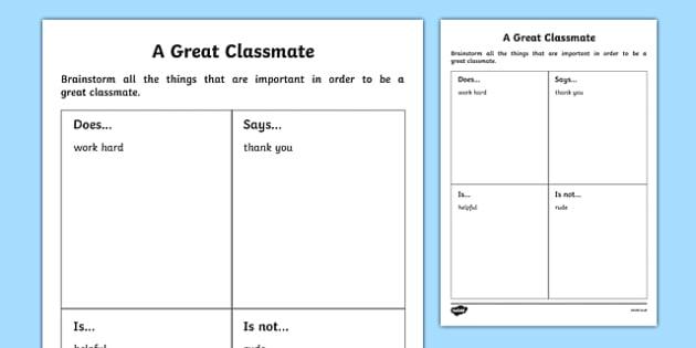 First Day Great Classmate Activity Sheet-Scottish, worksheet