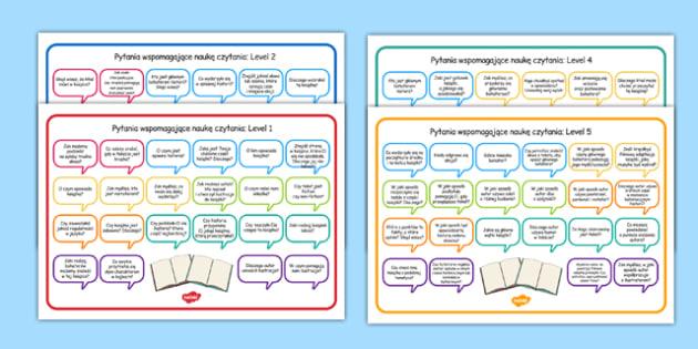 Maty z pytaniami Nauka Czytania różne poziomy po polsku - polish, books, question, level