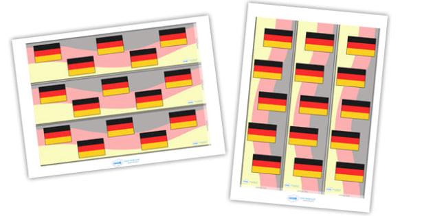 German Display Borders - German, Germany, display border, classroom border, border, MFL, Modern Foreign Languages, foundation, languages, display