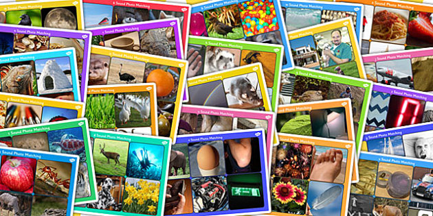 Initial Sounds Photo Matching Boards and Cards Pack - activity