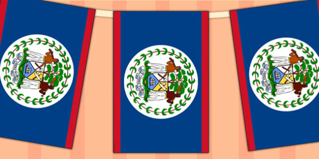 Belize Flag Display Bunting - commonwealth, display, flags