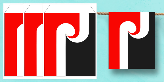 Maori Flag Display Bunting - nz, new zealand, maori flag, maori, flag, display bunting, display, bunting