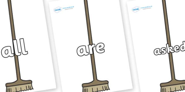 Tricky Words on Brushes - Tricky words, DfES Letters and Sounds, Letters and sounds, display, words