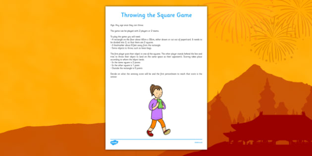 Throwing the Square Chinese New Year Themed Game - throwing, square, chinese new year, themed, game