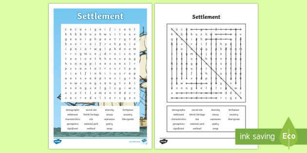 settlement word search