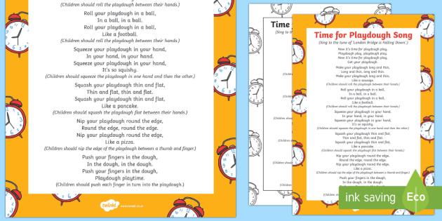 Time for Playdough Play Song - Playdough Play, dough disco, finger gym, fine motor skills, physical development busy fingers, finge