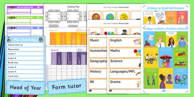 SEN Back to School Support Pack Secondary - support, pack, secondary