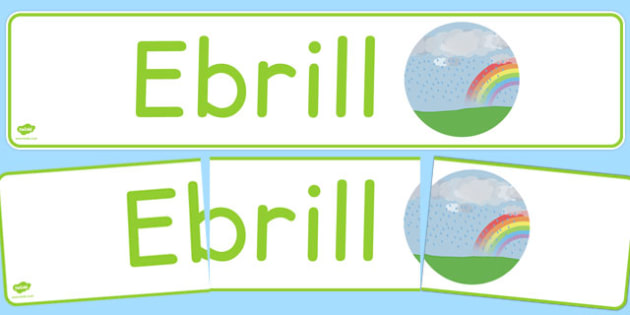 Ebrill Display Banner Cymraeg - cymraeg, year, months of the year, april