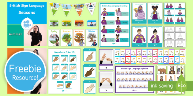 Free British Sign Language (BSL) Taster Resource Pack - free