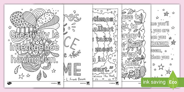 - Mindfulness Quotes Coloring Sheets (teacher Made)