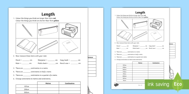 new measuring length worksheets measure metre centimetre length. Black Bedroom Furniture Sets. Home Design Ideas