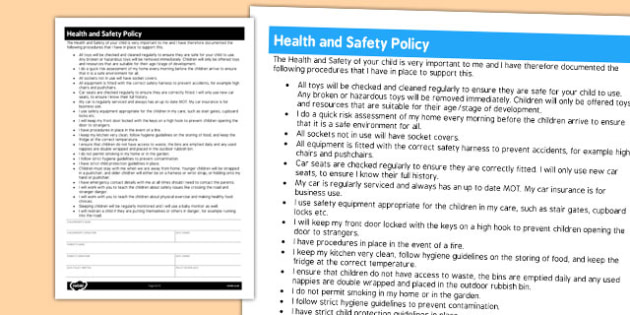 know the health and safety policies The health and safety committee will establish or amend health and safety policies to ensure ongoing compliance with legislation and best practise standards the committee will recommend to the board the annual health and safety targets.