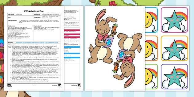 New Eyfs Easter Bunny 39 S Thank You Circle Time Adult Input