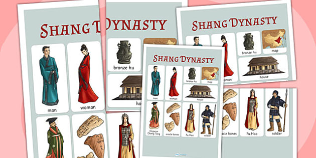 The Shang Dynasty Vocabulary Mat - shang dynasty, china, history