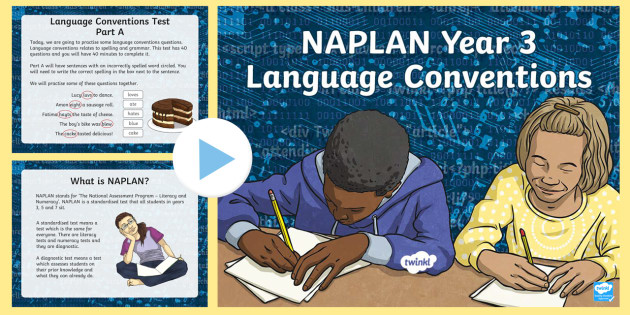 new   understanding naplan - language conventions year 3 powerpoint